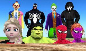 Több szuperhős, és Disney szereplő egy furcsa videóban