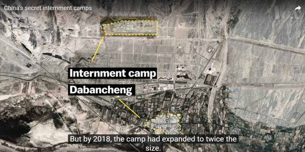 Egy kínai átnevelőtábor műholdfelvételen - VOX