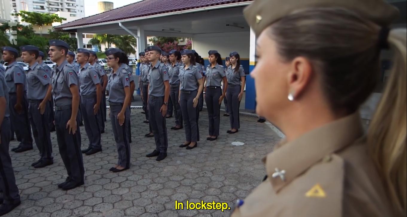 Az egyik brazil katonai iskola forrás: Arte
